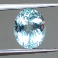 Natural Batu Akik Alami Permata Aquamarine Beryl Biru Asli (Bisa COD)