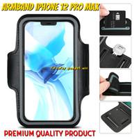 iPhone 12 PRO MAX Armband Pouch Arm Band Sport Sarung Lengan Jogging - Hitam
