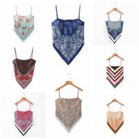 scarf tank top wanita import / baju atasan pantai / casual korean top