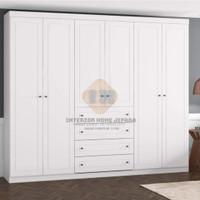 lemari pakaian minimalis pintu 4 kayu mahoni open kering sangat kokoh