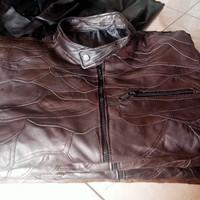 Jaket Kulit Domba asli Sambungan ( Hitam dan Coklat tua )