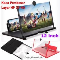 Kaca Pembesar Layar Handphone 3D HD Ukuran 12 Inch