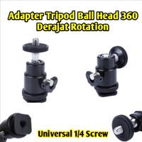 Tripod Adapter Degree 360 Rotation Universal Screw Ball Head Kamera