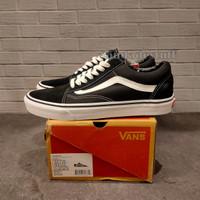 Sepatu Vans Oldskool Classic Canvas Blackwhite Unisex - Hitam, 39