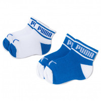 Kaos Kaki PUMA BABY WORDING SOCK 2P white blue 907470 01