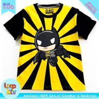 Baju / Kaos Anak Murah Lengan Pendek Logokids Batman Kartun 1-10 Tahun