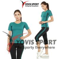 Setelan Baju Senam /Olahraga Setelan Celana pendek 7/8 Wanita terbaru