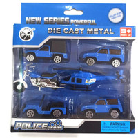 Diecast Metal Koleksi Mobil dan Kendaraan | Police Heroes Series 6 pcs