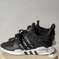PL - Sepatu Adidas EQT x OFF-White, Size 7 Warna Hitam (Like New)-Rare