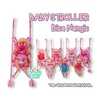 Mainan Anak Perempuan Boneka Bayi Stoller Bisa Nangis
