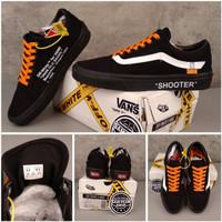 Sepatu vans Old skool X off white Shooter black original premium BNIB