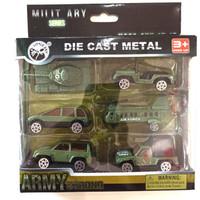 Diecast Mini Koleksi Army Military 6 pcs | Miniatur Mobil Militer
