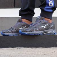 Sepatu Volly Mizuno Wave Prophecy 7 Grey Blue