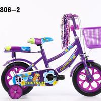 Sepeda mini anak perempuan 12 inch Morison Ban busa usia 3 - 7 tahun