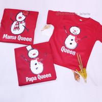 GRATIS NAMA Kaos/Baju Natal Ayah Ibu Anak Couple Set Keluarga Lucu