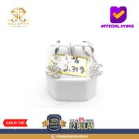 SBJ - Anting emas putih asli 750 AMP239