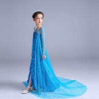 Dress Elsa Sequin / Dress Anak Elsa / Dress Frozen - 120