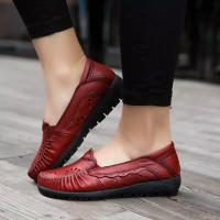 sepatu wanita flat shoes kulit asli import