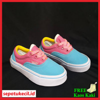 Sepatu Anak Perempuan Vans Authentic Vans Otentik Blue Pink