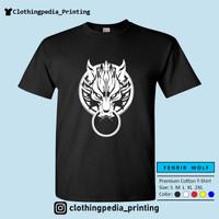 Kaos Fenrir Cloudy Wolf Motif Serigala FF7 Advent Children T-Shirt