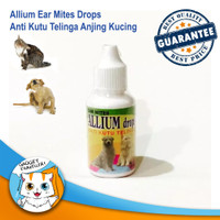 Allium Drops - Obat Tetes Anti Kutu Telinga Anjing Kucing Ear Mites
