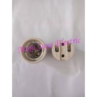 Rumah Fitting Keramik Downlight Lampu E27 4A 250V Fiting Jambu Philmax