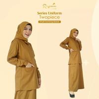 gamis Pemda Riyani twopiece seragam Pemda baju dinas Pemda size XL-XXL