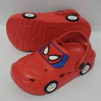 Sepatu Sandal S20-29 Spiderman Super Hero Mobil Car Golfer Baby Kids