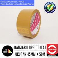 DAIMARU OPP COKLAT - LAKBAN COKLAT - SELOTIP COKLAT - 45mm X 50M