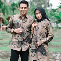 baju batik sarimbit coupel pasangan pria wanita modern pesta kantor s4 - XXXL