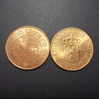 uang koin belanda benggol 2.5 gress asli