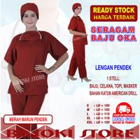 Baju Oka, Baju Jaga, Baju Perawat , Lengan Pendek, Pria /Wanita