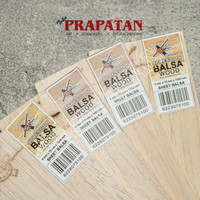 Kayu Balsa Sheet Papan 5mm Sheet 7.5x100cm / Balsa Wood / Kayu Maket