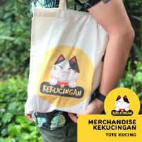 TOTEBAG TOKOKEKUCINGAN Tote Bag Bahan Blacu Gemes 35 x 40 cm