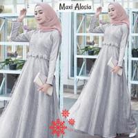 Femme Ols - Maxi Alosia / Baju Gamis Brokat / Fashion Muslim Wanita