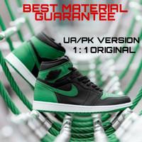 Sepatu Jordan 1 High UA / PK Pine Green, BNIB.