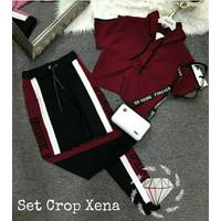 Setelan Olahraga Wanita Croxe - Baju Training Olahraga Cewek