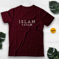 KAOS TULISAN KANJI JEPANG ISLAM T-SHIRT UNIK BAJU DISTRO