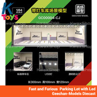 Fast and Furious Parking Lot Garage with Led - Geechan-1/64 Diecast
