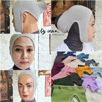 Inner bandana ciput ninja antem rajut daleman hijab anti budeg