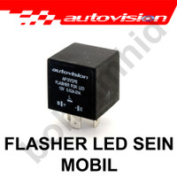 Flasher Sein LED Relay Autovision 3Pin Mobil Motor Sign Sen Resistor