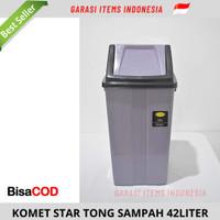 TONG SAMPAH KOMET STAR / TEMPAT SAMPAH TUTUP GOYANG 42 LITER