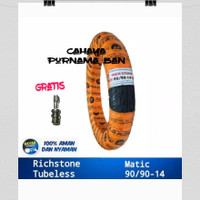 1 paket ban luar richstone tubles UK 90/90-14 + pentil ALL MOTOR MATIC