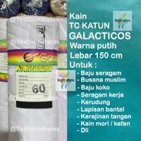 Kain KATUN JEPANG PUTIH TEBAL TC GALACTICOS Lb 150 baju seragam sarung