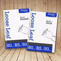 kertas isi binder Loose Leaf B5 80 gsm polos/line/Grid/Dotted
