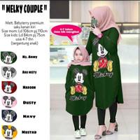 Baju Couple Ibu dan Anak Perempuan / COUPLE MILKY IBU ANAK(SF)
