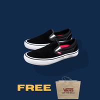SALE!! VANS SLIP ON PRO BLACK AND WHITE POP CUSH ORIGINAL