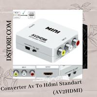CONVERTER AV FEMALE TO HDMI STANDART FEMALE + KABEL USB 5PIN (AV2HDMI)