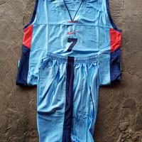 Baju Stelan Team Basket Dewasa Isi 12 Paragon (Biru Argentina)
