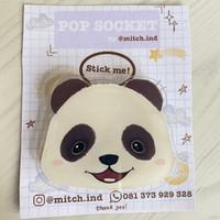 pop socket phone grip griptok lucu -animal cute-panda
